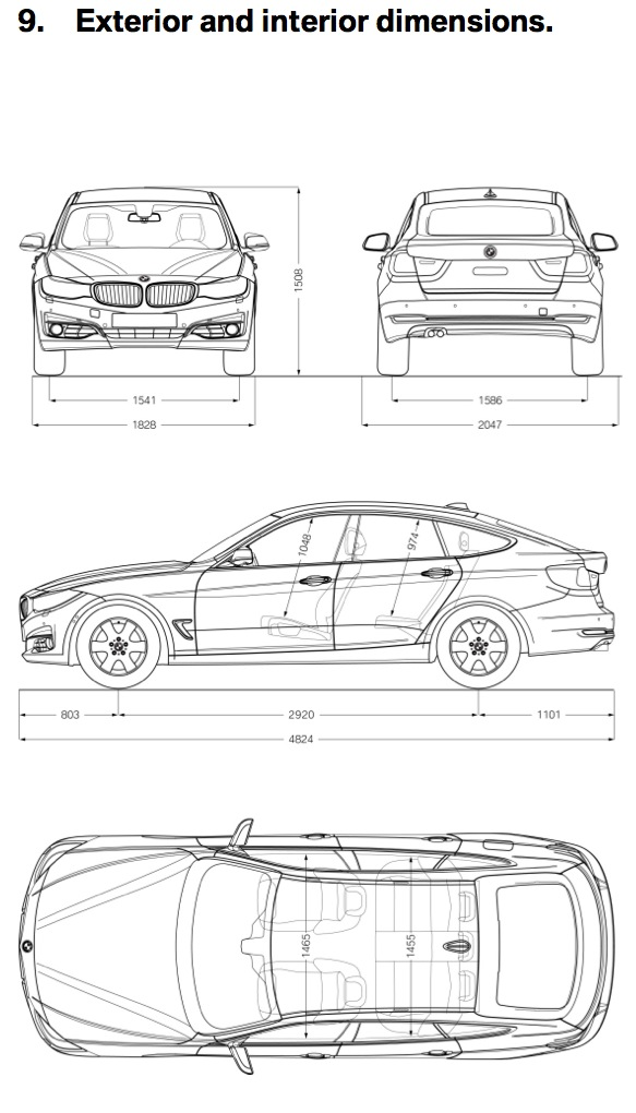 Bmw 328i Gt Dimensions Crafts