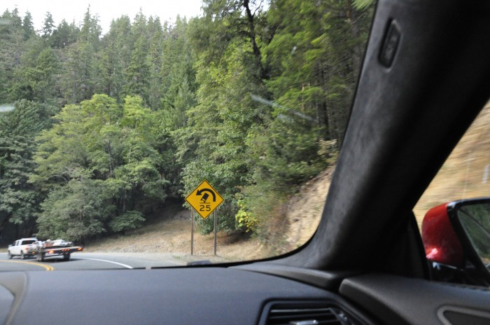 The surprisingly good Highway 5 on the Oregon and California border