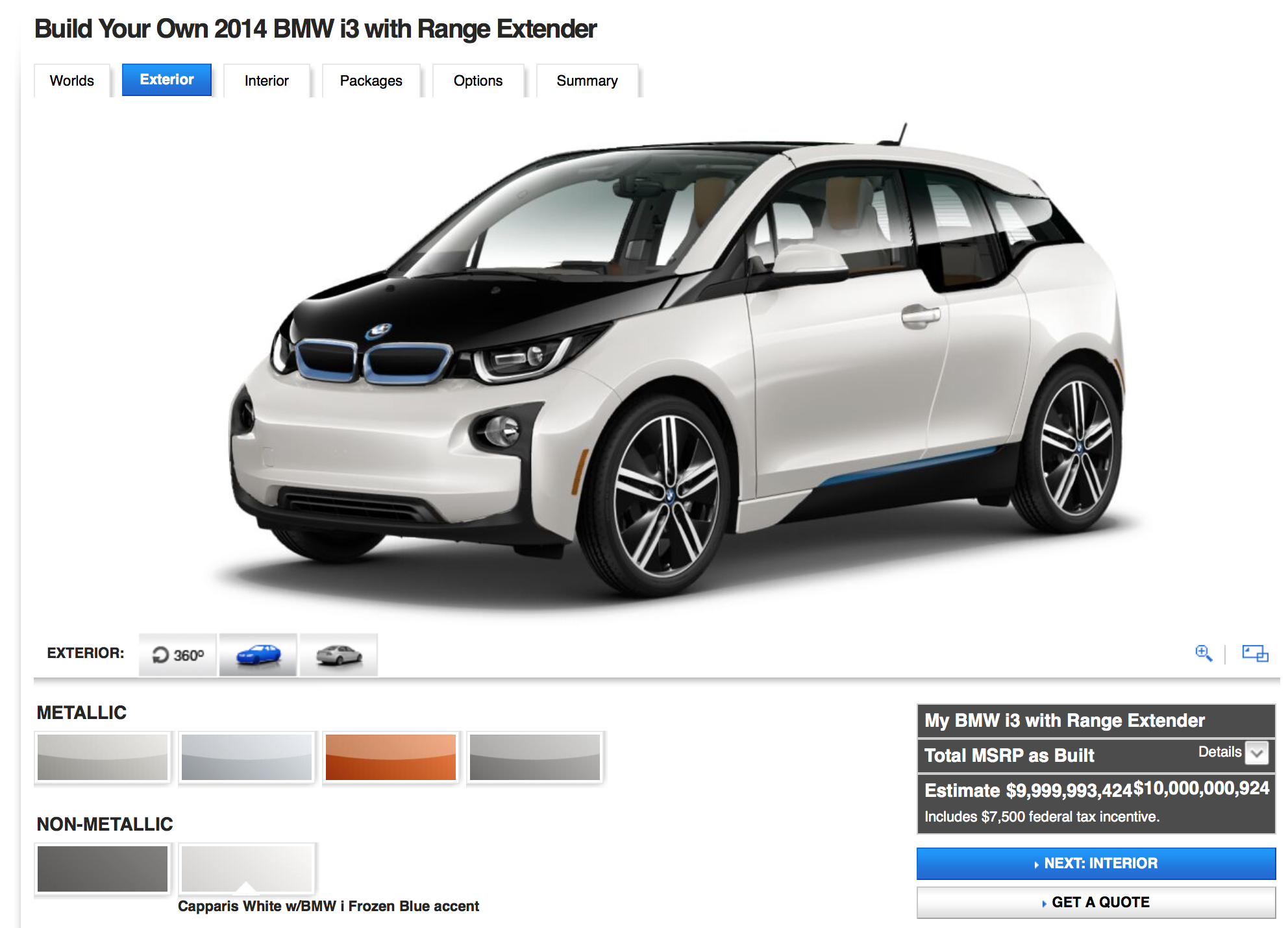 BMW USA's i3 Configurator Goes Live - BimmerFile
