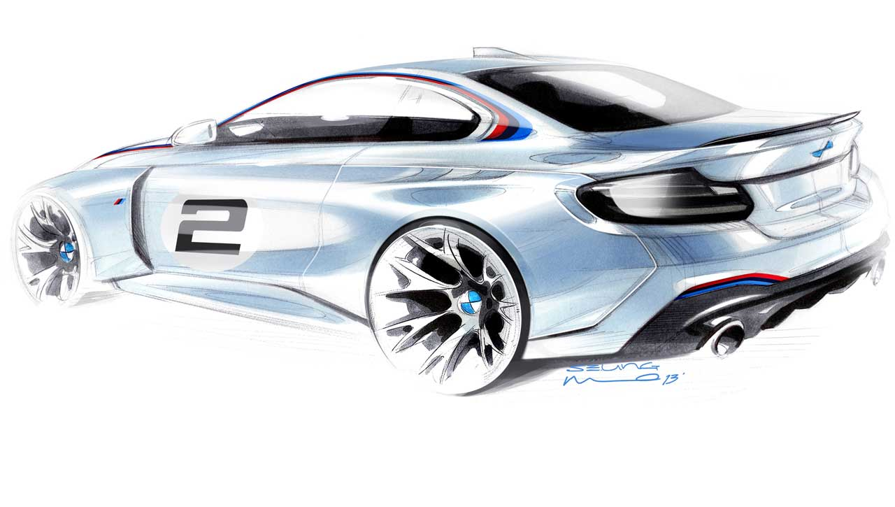 Bmw Motorsport S Official M235i Race Car Sketch Bimmerfile