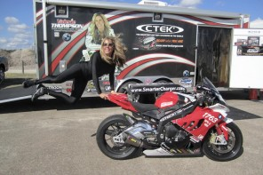 Valerie Thompson Rides BMW S1000RR to 217 mph at Texas Mile