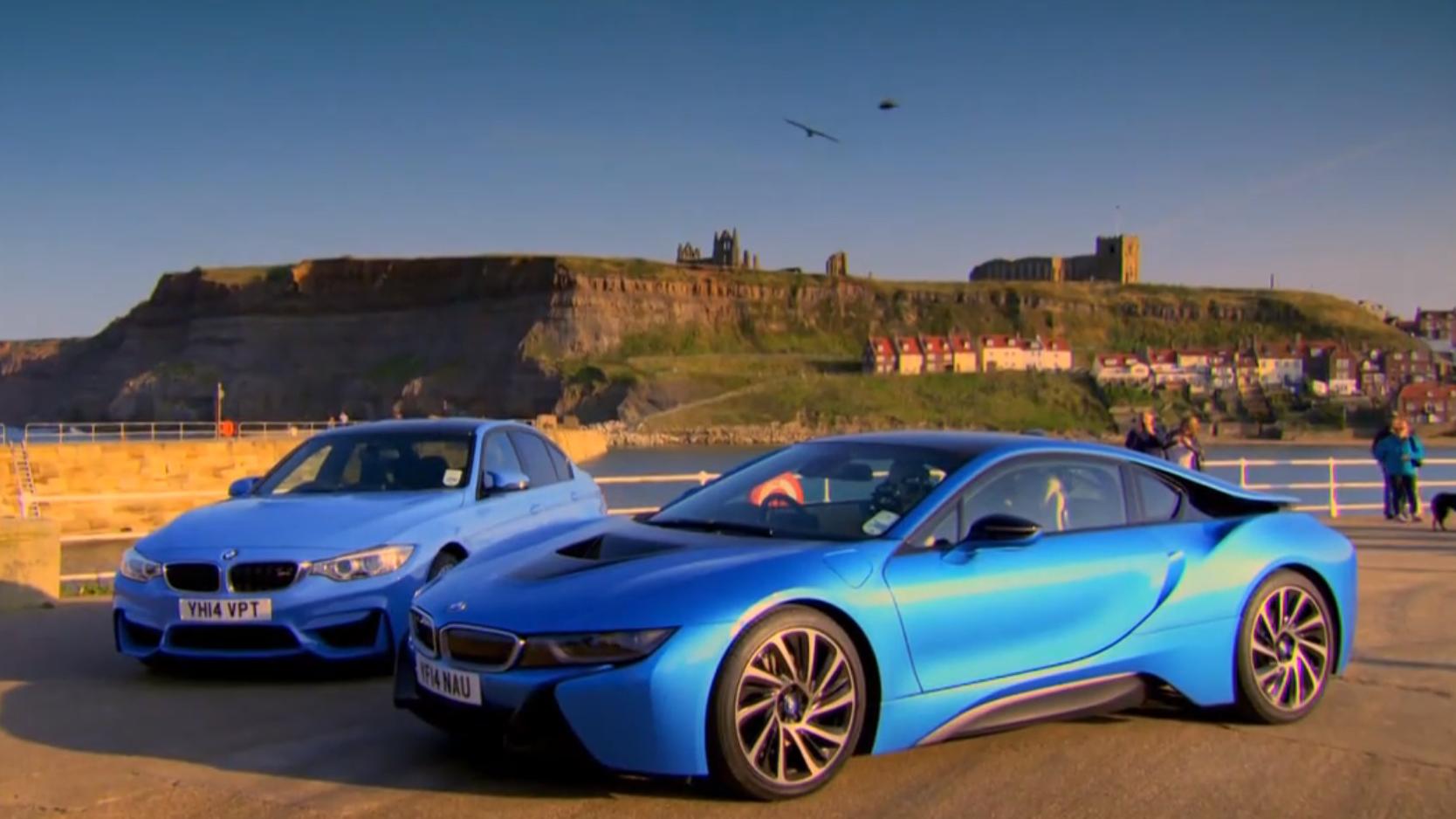 Top Gear's Jeremy Clarkson Pits the BMW M3 vs the i8 - BimmerFile on top gear toyota tundra, top gear jaguar e-type, top gear maserati quattroporte, top gear alfa romeo 4c, top gear mclaren p1, top gear toyota tacoma, 1970 bmw m3, top gear jaguar f-type, car bmw m3, 1990 bmw m3, top gear lexus lfa, top gear bugatti veyron, adam carolla bmw m3, wheeler dealers bmw m3, top gear aston martin vanquish, hamann bmw m3, top gear ford gt, top gear lamborghini gallardo, top gear range rover, michelle rodriguez bmw m3,