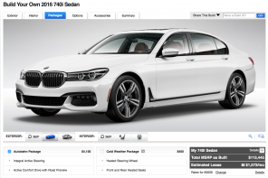 BMW 7 Series Configurator Launches at BMWUSA.com