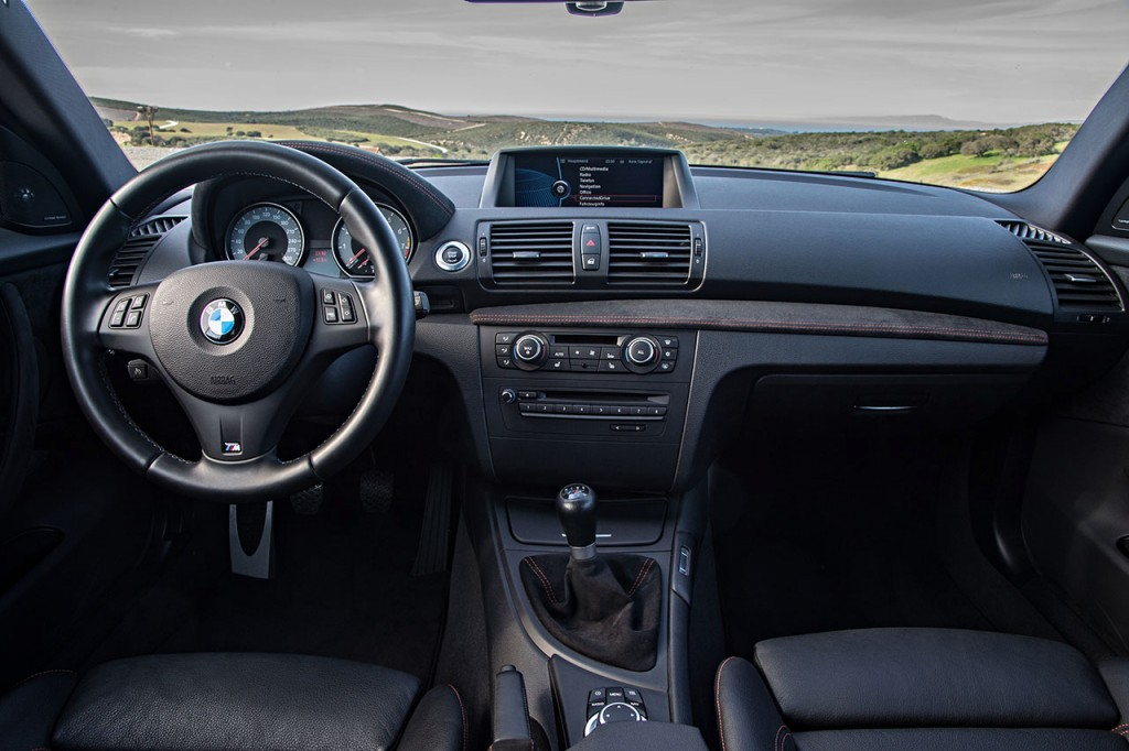 The BMW 1M with the required manual transmission.