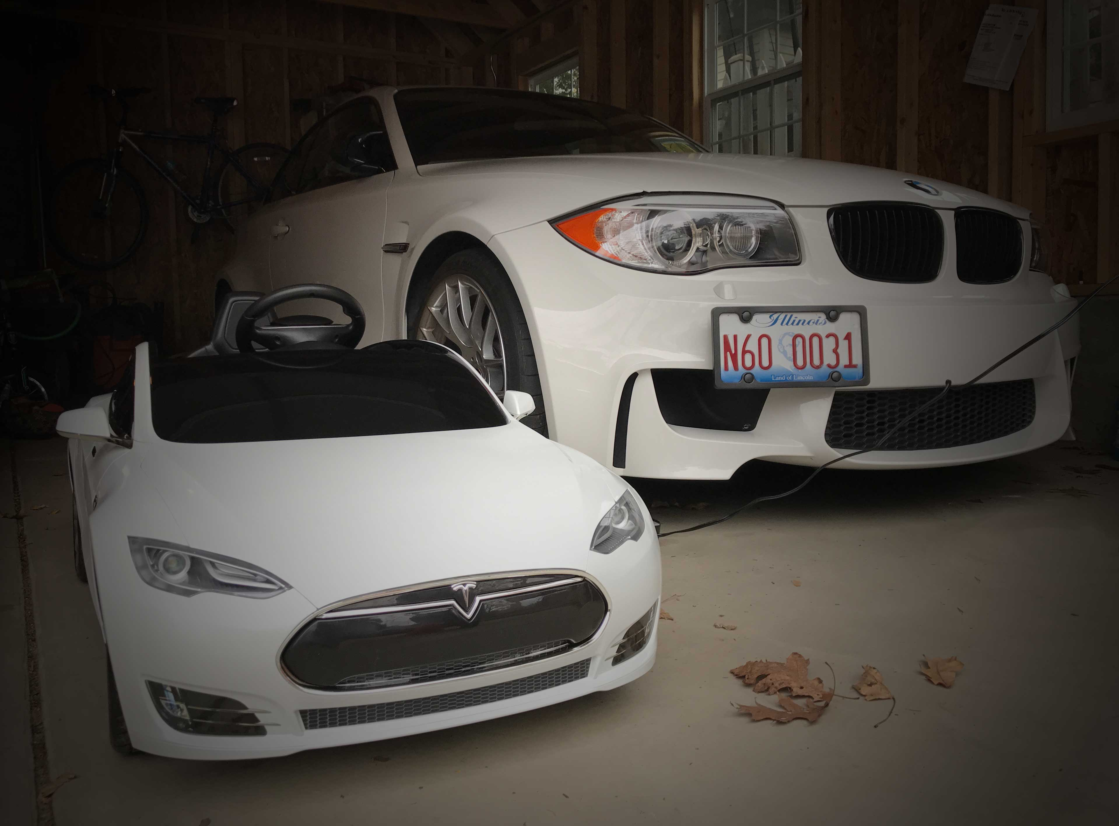 Review Tesla Radio Flyer Vs The Bmw M4 Electric Ride On Car