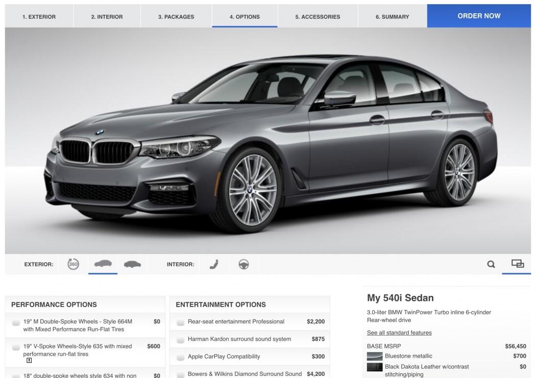 BMW USA's 5 Series Configurator is Live - BimmerFile