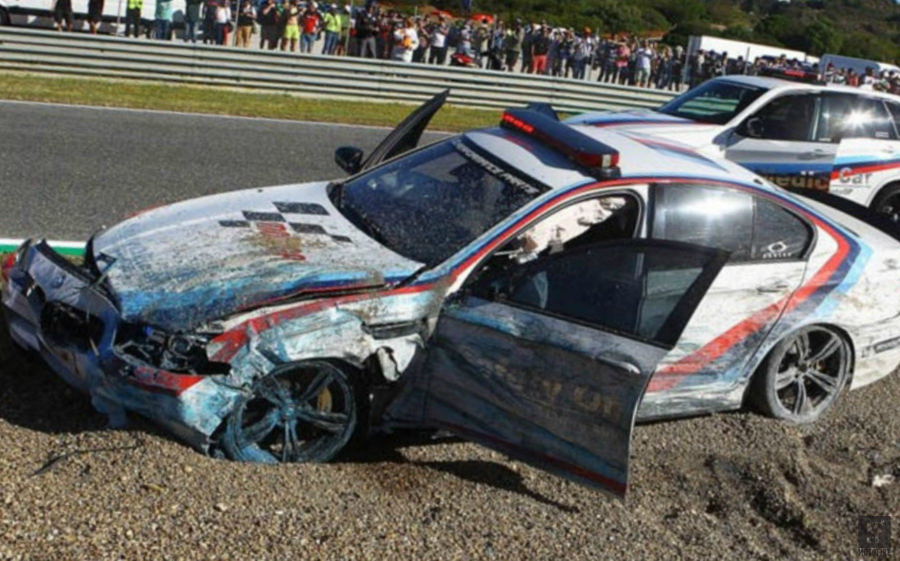 MotoGP BMW M5 Pace Car Crashes at Jerez - BimmerFile