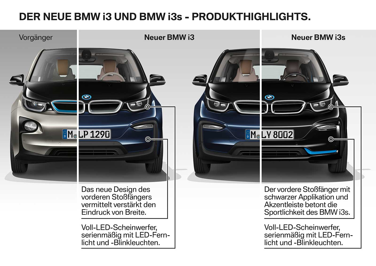 Comparison: 2017 BMW i3 vs 2018 BMW i3 & i3s - BimmerFile